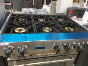"Viking 36"" gas cooktop stainless steel 6 burner for Sale in Fontana, CA"
