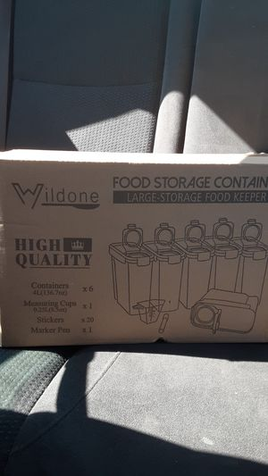 Wildone food storage containers for Sale in Des Plaines, IL