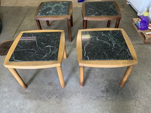 End Tables 2 sets of 4 - Granite/Marble Top for Sale in Sanford, MI