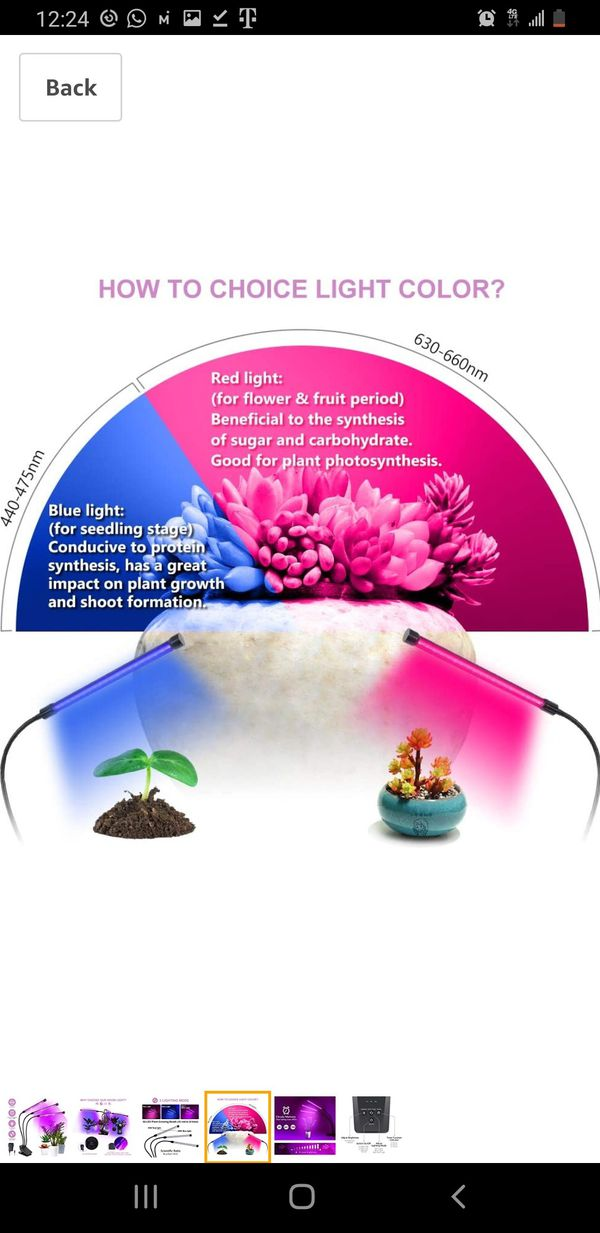 Grow Light, Plant Lights 60 LED Plant Grow Lamp with Timer 3/6/12H Auto ON & Off, 10 Dimmable Levels, 3-Head 360 Degree 3 Lighting Modes Adjustable