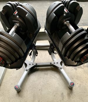Bowflex dumbbells dumbbells 1090 with stand for Sale in Kent, WA