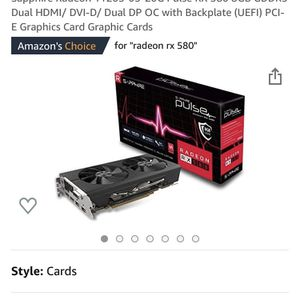 Sapphire Pulse Radeon RX 580 OC, 8GB GDDR5 for Sale in Grand Prairie, TX