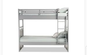 Grey Twin Bunk Bed from Bob's Furniture for Sale in Aspen Hill, MD