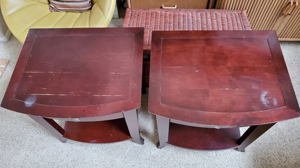 Set of 2 Crate&Barrel Solid Wood Nightstands