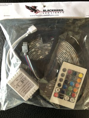LED lighting tape- 150 LED lights with remote for Sale in Portland, OR