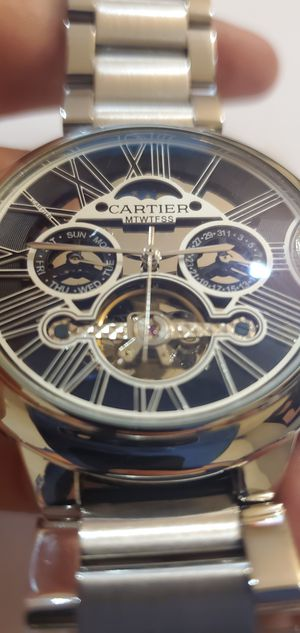 Mens silver watch for Sale in Huntington Beach, CA