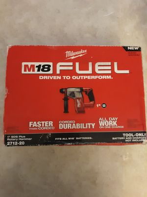 "MILWAUKEE M18 FUEL 1"" SDS PLUS ROTARY HAMMER (TOOL ONLY) 2712-20. NEW. NUEVO. for Sale in Atlanta, GA"