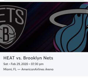 Miami Heat vs Nets 108 ROW 12 for Sale in Pembroke Pines, FL