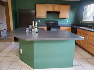 Kitchen cabinets and island for Sale in WHT SETTLEMT, TX