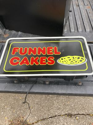 Electric Funnel Cake sign for Sale in Lexington, KY
