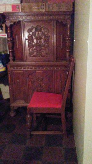 Antique Oak Dining Set 3 piece set. for Sale in Mount Pleasant, MI