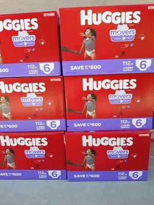 PAMPER HUGGIES LITTLE MOVERS SIZE 6 A $35 CADA UNO PRECIO FIRME for Sale in Santa Ana, CA