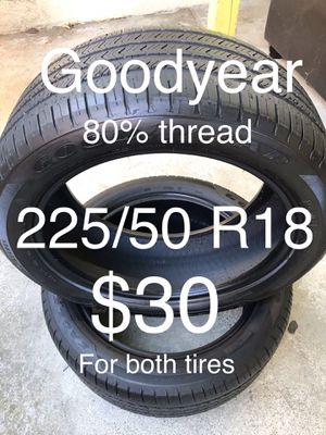 2 Goodyear tires 225/50 R18 for Sale in Hayward, CA