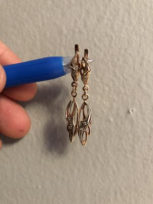 14K Gold With Diamond Earrings for Sale in San Francisco, CA