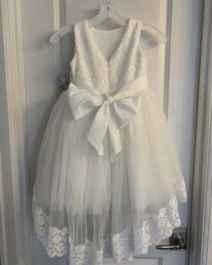Flower girl white dress for Sale in Kent, WA