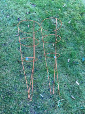 FREE. Orange Tomato Plant Cages. for Sale in Puyallup, WA