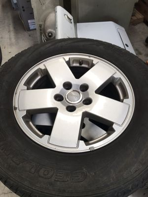 jeep wrangler wheels and tires for Sale in Collinsville, IL