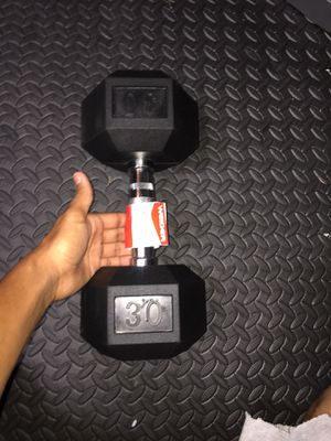 Brand new 30 pound rubber hex dumbbell for Sale in Orlando, FL