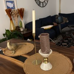 Candle Holders. White Marble And Gold Set for Sale in Quincy,  MA