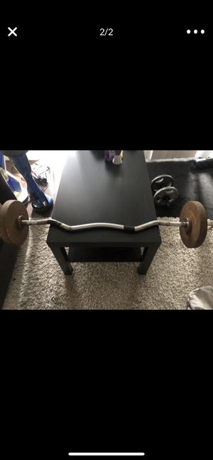 Ez-curl bar with 25lbs in weights for Sale in Castro Valley, CA