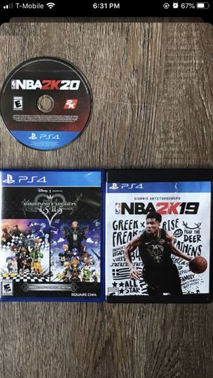 Ps4 games nba 2k19 nba 2 k 20 kingdoms of hearts for Sale in Plano, TX