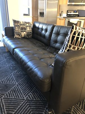Leather Sofa Dark Brown for Sale in Tampa, FL