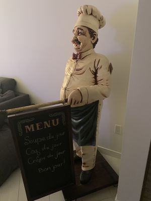 BRAND NEW!!! Chef Cook with Chalk Menu Board Life Size Statue for Sale in Boca Raton, FL