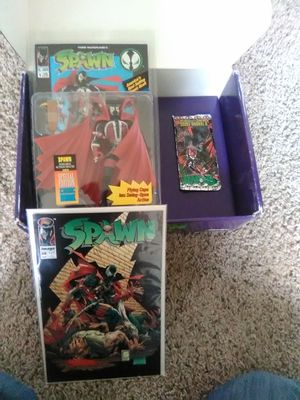 Spawn action figure and comic book and cards for Sale in Salt Lake City, UT
