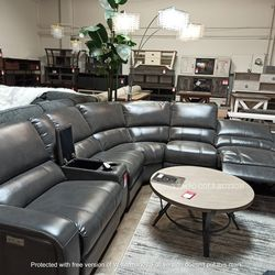 NEW, Euro 3 PC Gray Power Motion Sectional Sofa Recliner for Sale in Santa Ana,  CA