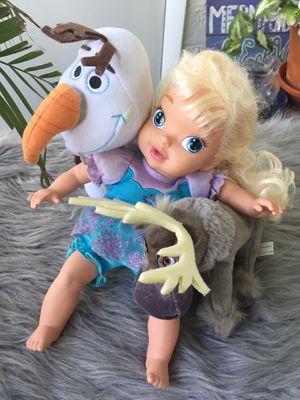 Disney Princess Frozen Baby Elsa Doll Sven Olaf for Sale in Largo, FL
