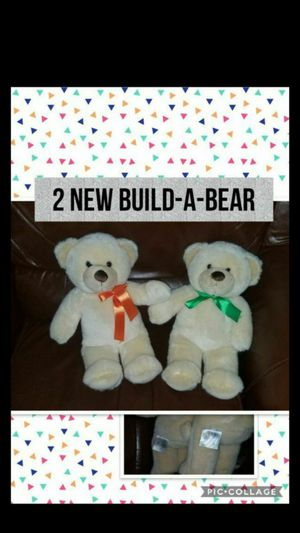New Set of 2 Teddy Bear Build a Bear Plush Christmas Holiday Present Gift for Sale in Kansas City, MO