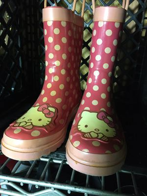 Hello kitty rain boots size 13 - 1 $20 for Sale in Mesquite, TX
