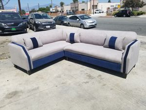 NEW 7X9FT ANNAPOLIS LIGHT GREY FABRIC SECTIONAL COUCHES for Sale in Yucca Valley, CA