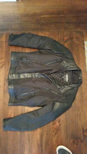 Leather and Nylon Motorcycle Jacket for Sale in Brooklyn, OH