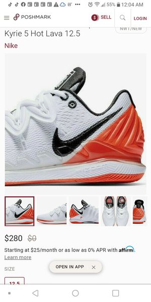 Nike zoom air zoom vapor x kyrie 5 hot lava for Sale in Houston, TX