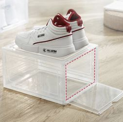 Lot Of 2 Magnetic Sneaker Storage Shoe Box Stackable Container for Sale in Los Angeles,  CA