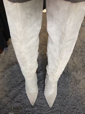 Suede Aldo Thigh High Grey Boots for Sale in Canton, MA