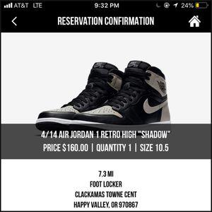 DS Jordan 1 OG HI shadow (size 10.5) for Sale in Portland, OR