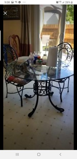 Glass kitchen table / patio for Sale in Avon, IN