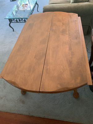 Heavy Antique Solid Maple wood dining table for Sale in Kent, WA