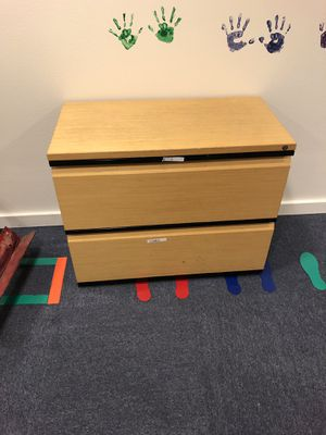 Two drawer filing cabinet wooden front and top for Sale in Novato, CA