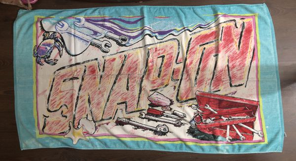 1980's Snap-On Promo beach towel RA Briggs