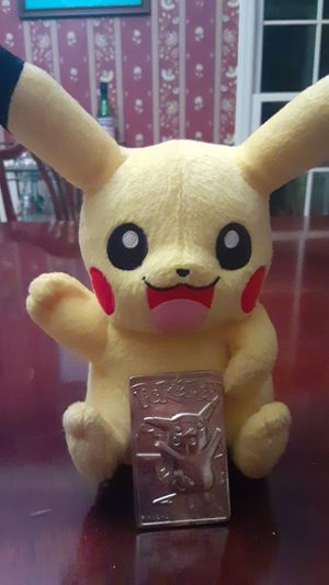 Pokemon Pikachu with Gold Plate for Sale in Raleigh, NC
