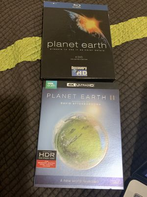 Planet Earth 1 Full Series - Blu Ray & Planet Earth 2 Blu Ray 4K - seen only once for Sale in San Jose, CA