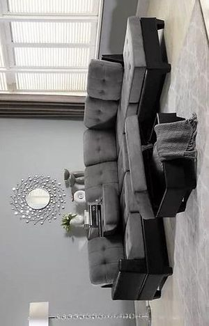 Park Place Sectional Sofa with Ottoman Gray S888 VENDOR NEW ERA for Sale in Houston, TX