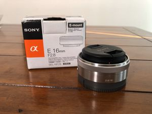 Sony 16mm f/2.8 Wide-Angle Lens for Sale in Baltimore, MD