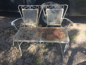 Wrought iron love seat patio furniture for Sale in Chesterland, OH