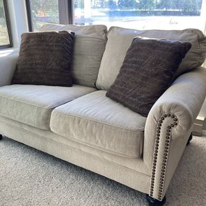 Milari Linen Queen Sleeper Sofa And Love Seat for Sale in Everett, WA