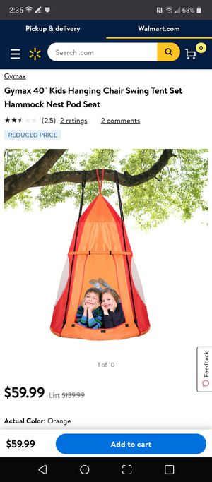 Kids hanging chair tent for Sale in Covina, CA