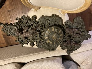 Modern Antique Ornate Wall Clock with Cupid Angels for Sale in Fullerton, CA